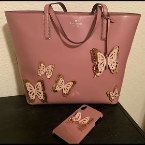 Kate Spade tote with matching iPhone case